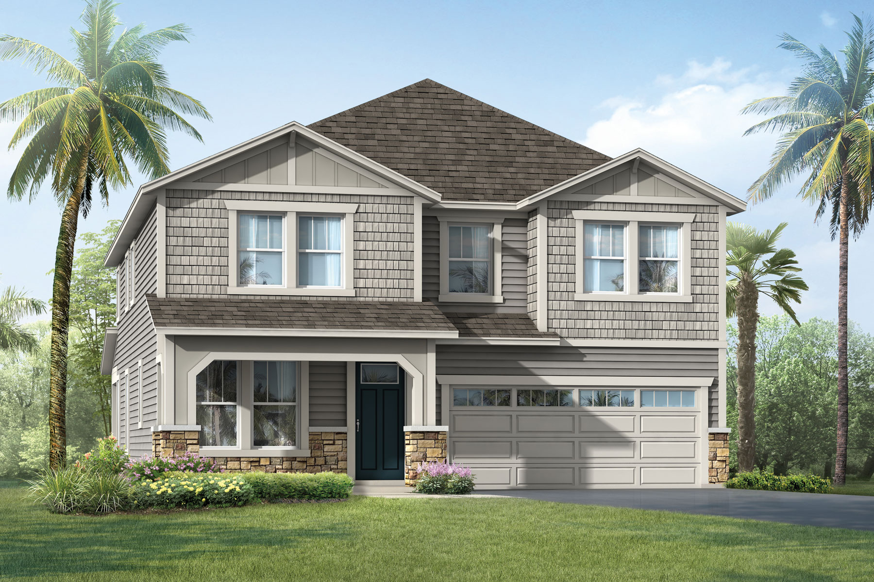 Vireo Plan ElevationCraftsman_RiverTown_Vireo at RiverTown - Arbors in St. Johns Florida by Mattamy Homes