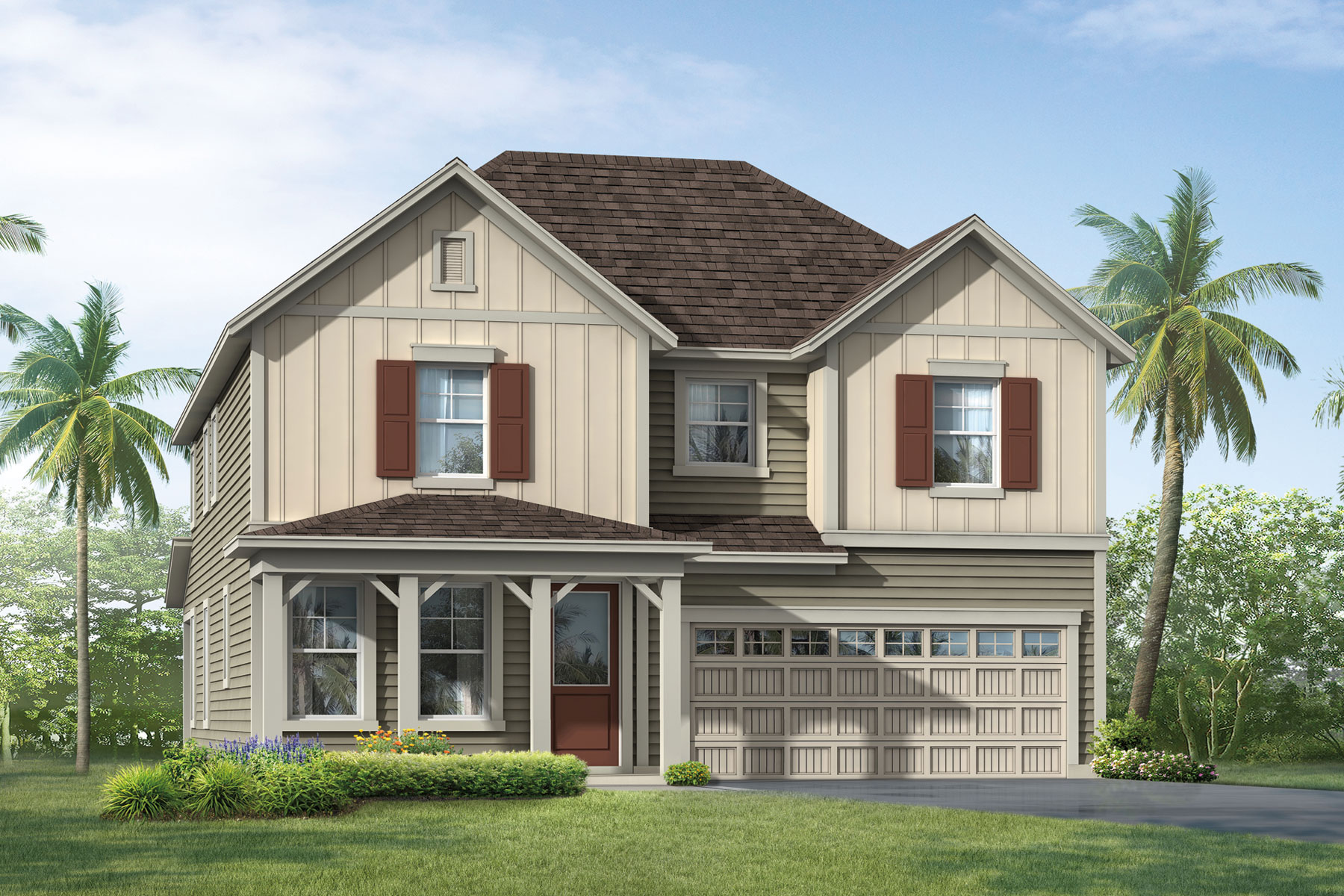 Vireo Plan Elevation Front at RiverTown - Arbors in St. Johns Florida by Mattamy Homes