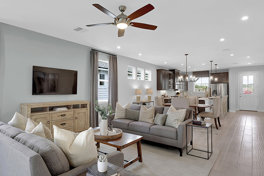 Forest Park at Wildlight Greatroom in Yulee Florida by Mattamy Homes