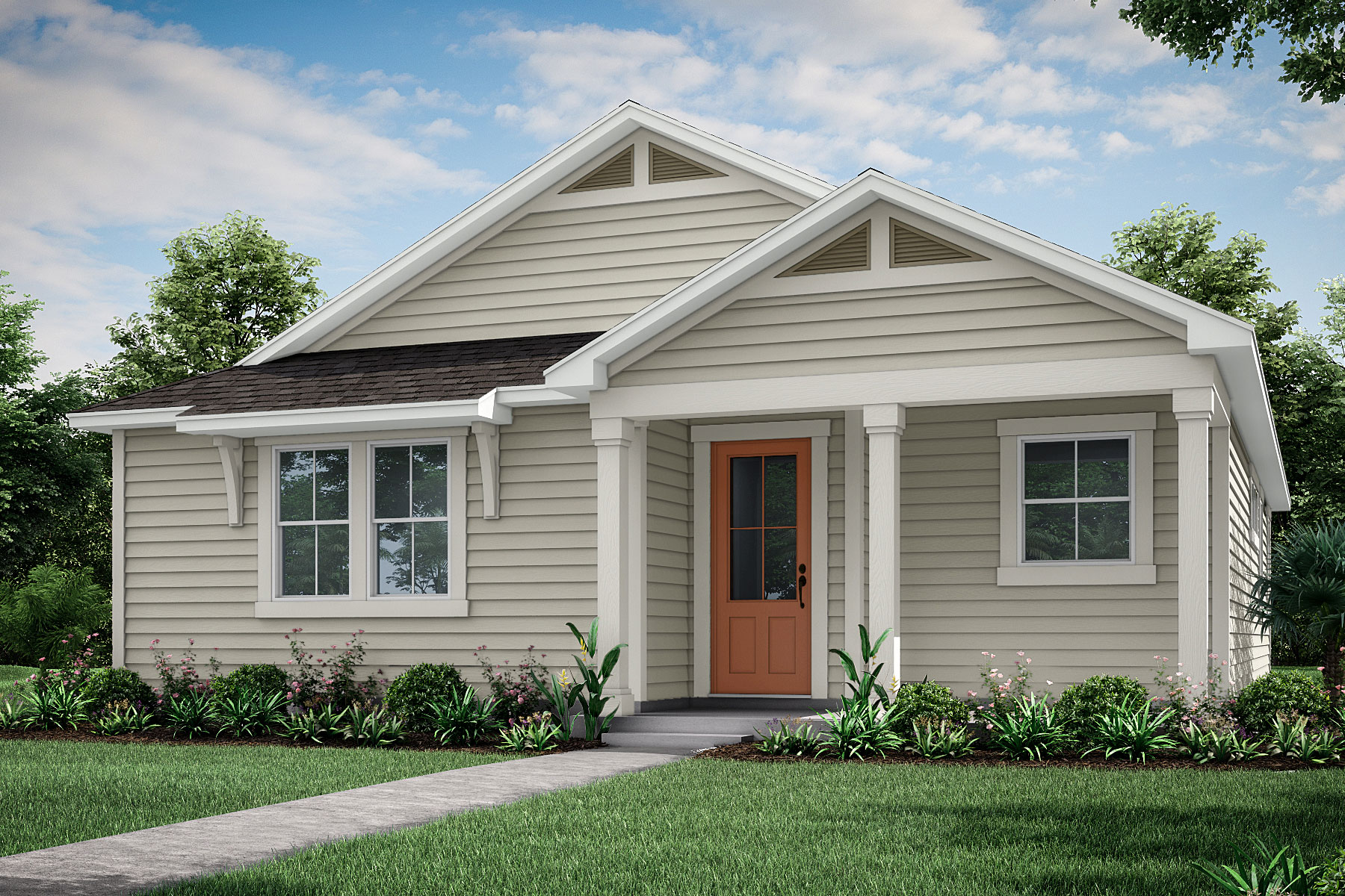 Bristol Plan Elevation Front at Forest Park at Wildlight in Yulee Florida by Mattamy Homes
