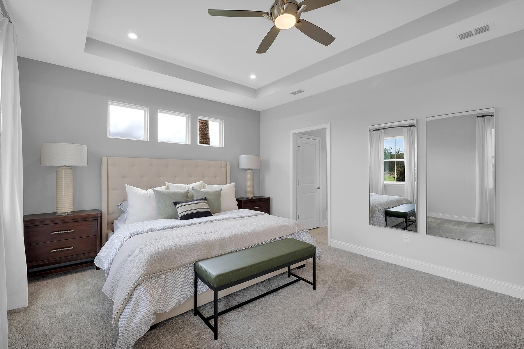Bristol Plan Bedroom at Forest Park at Wildlight in Yulee Florida by Mattamy Homes