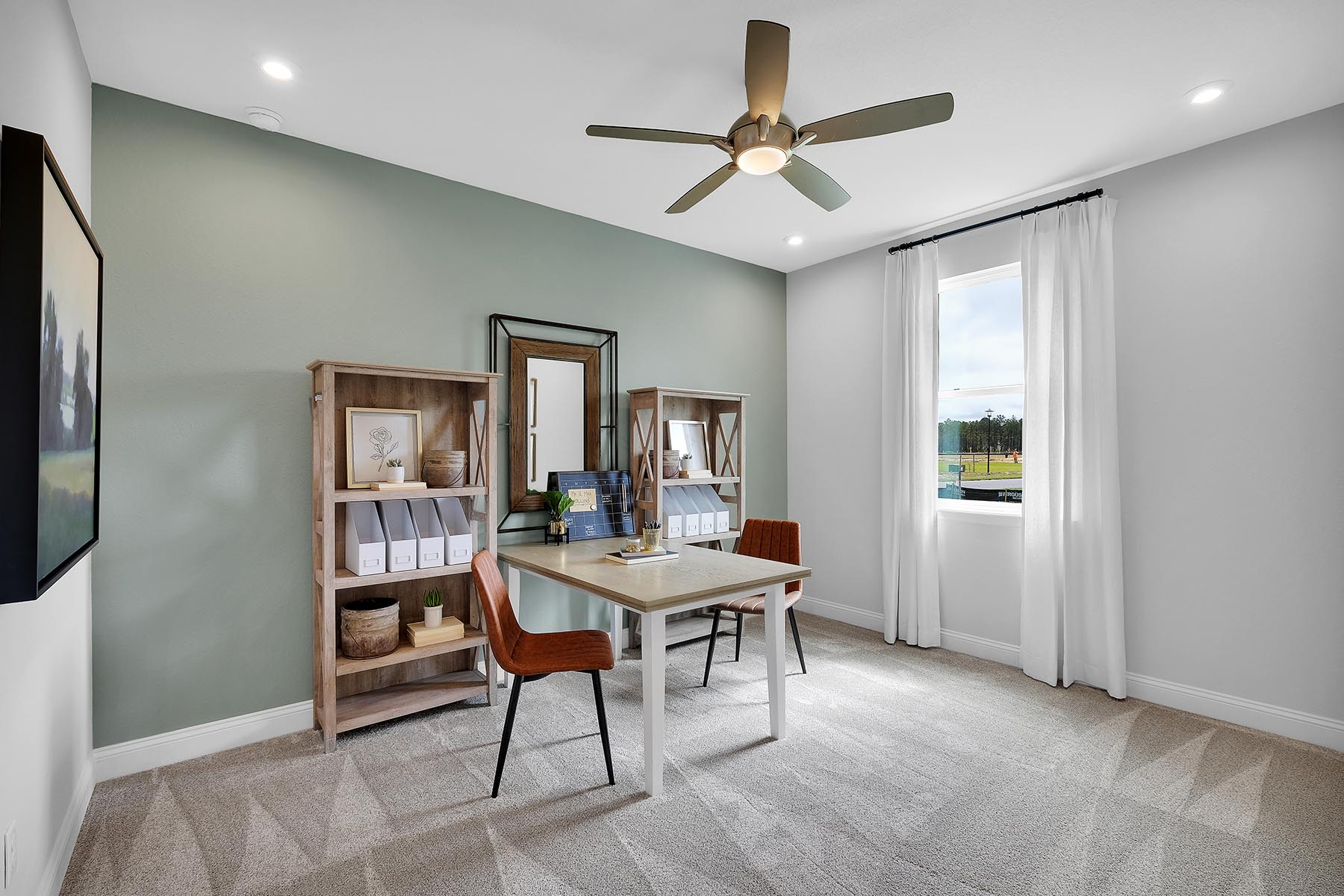 Bristol Plan Study Room at Forest Park at Wildlight in Yulee Florida by Mattamy Homes