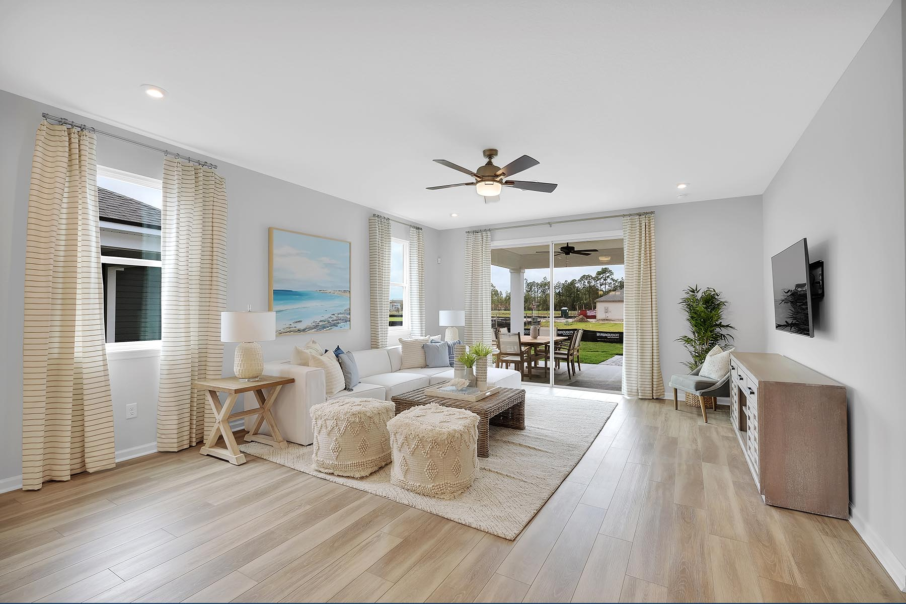 Elm Plan Greatroom at Forest Park at Wildlight in Yulee Florida by Mattamy Homes