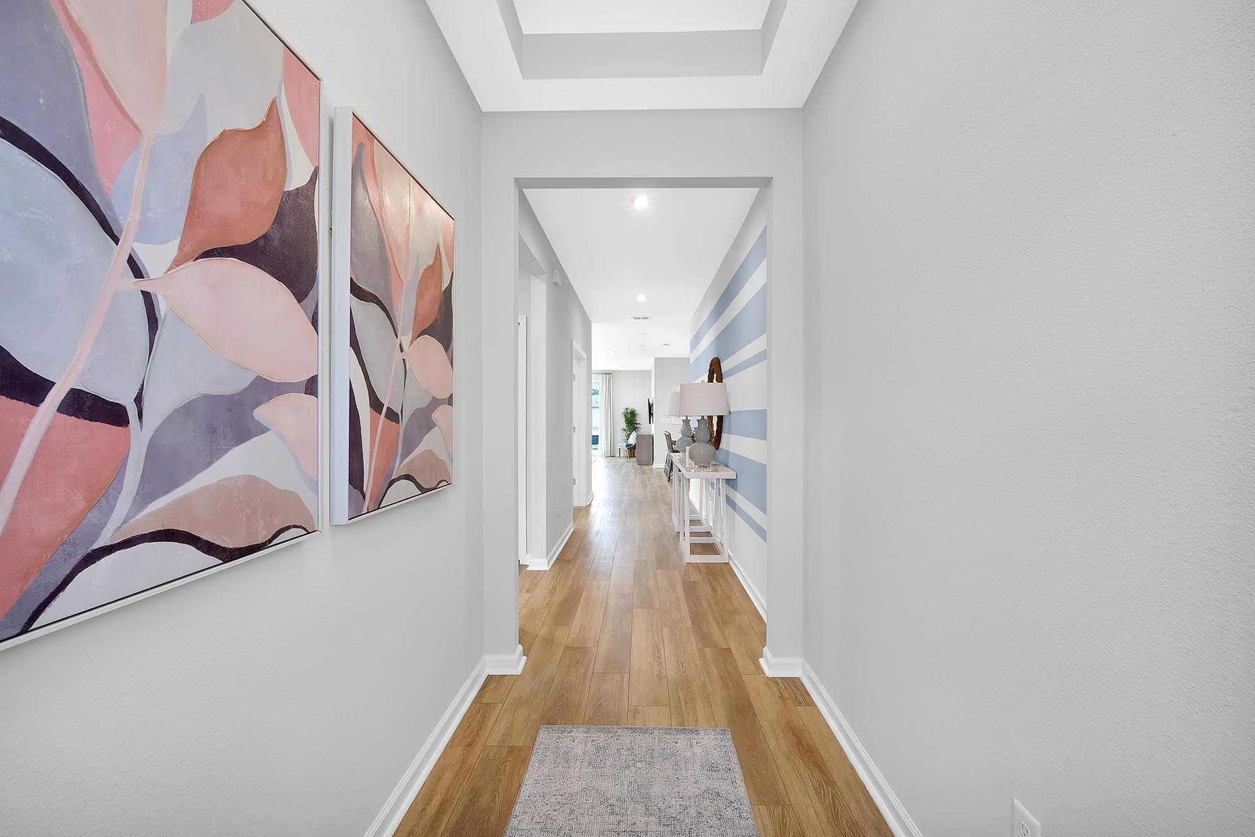 Elm Plan Hallway at Forest Park at Wildlight in Yulee Florida by Mattamy Homes