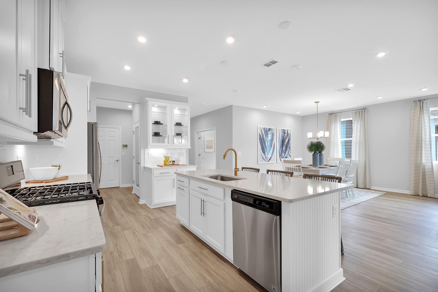 Elm Plan Kitchen at Forest Park at Wildlight in Yulee Florida by Mattamy Homes