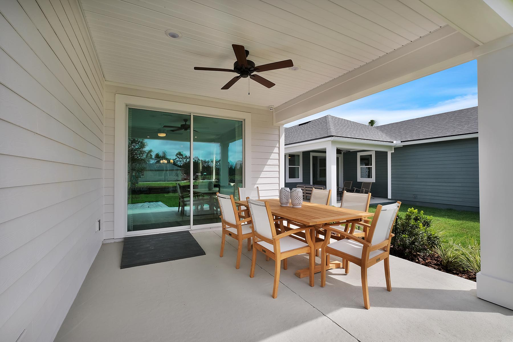 Elm Plan Patio at Forest Park at Wildlight in Yulee Florida by Mattamy Homes