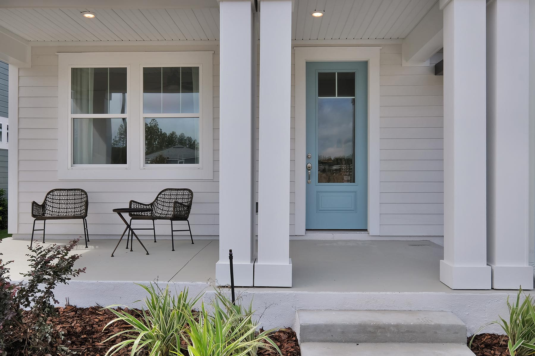 Elm Plan Front Porch at Forest Park at Wildlight in Yulee Florida by Mattamy Homes