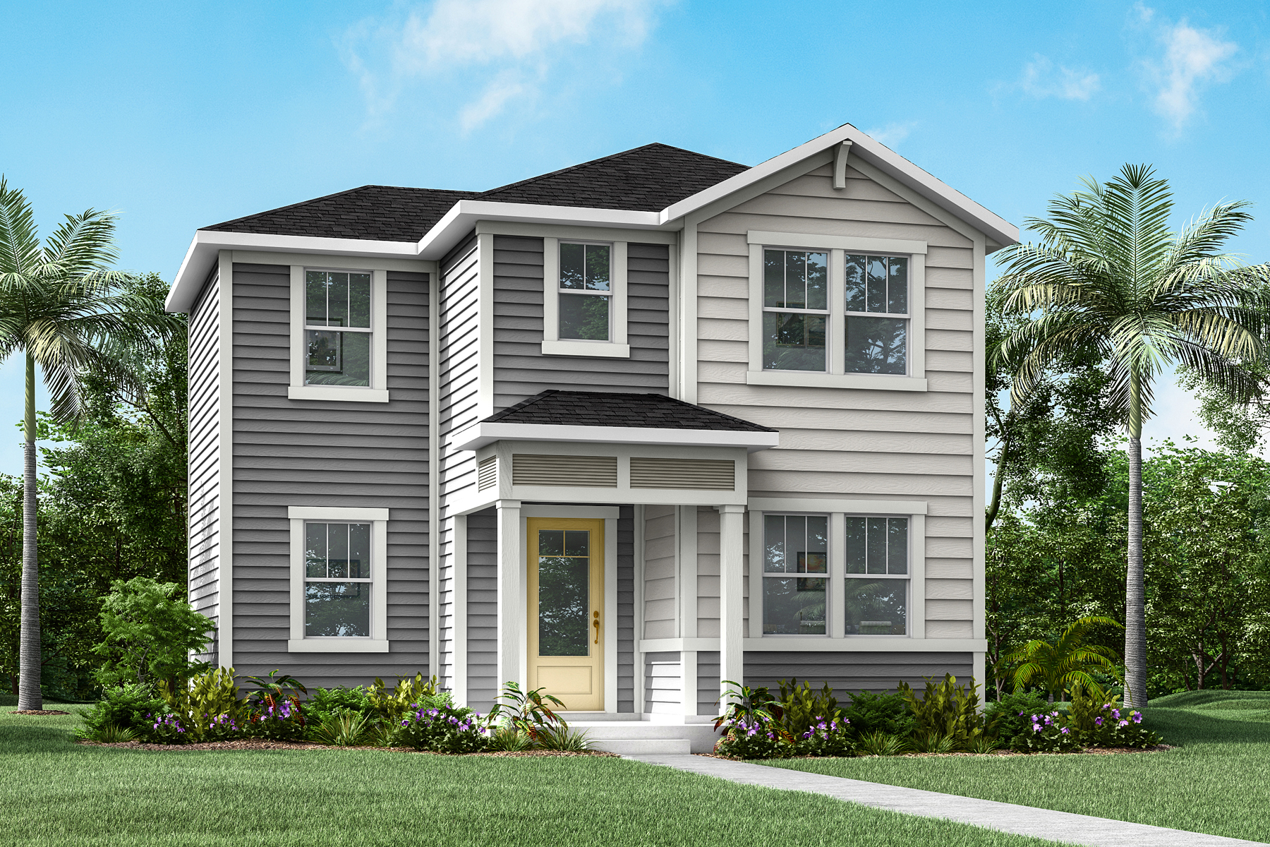 Lacey Plan Elevation Front at Forest Park at Wildlight in Yulee Florida by Mattamy Homes