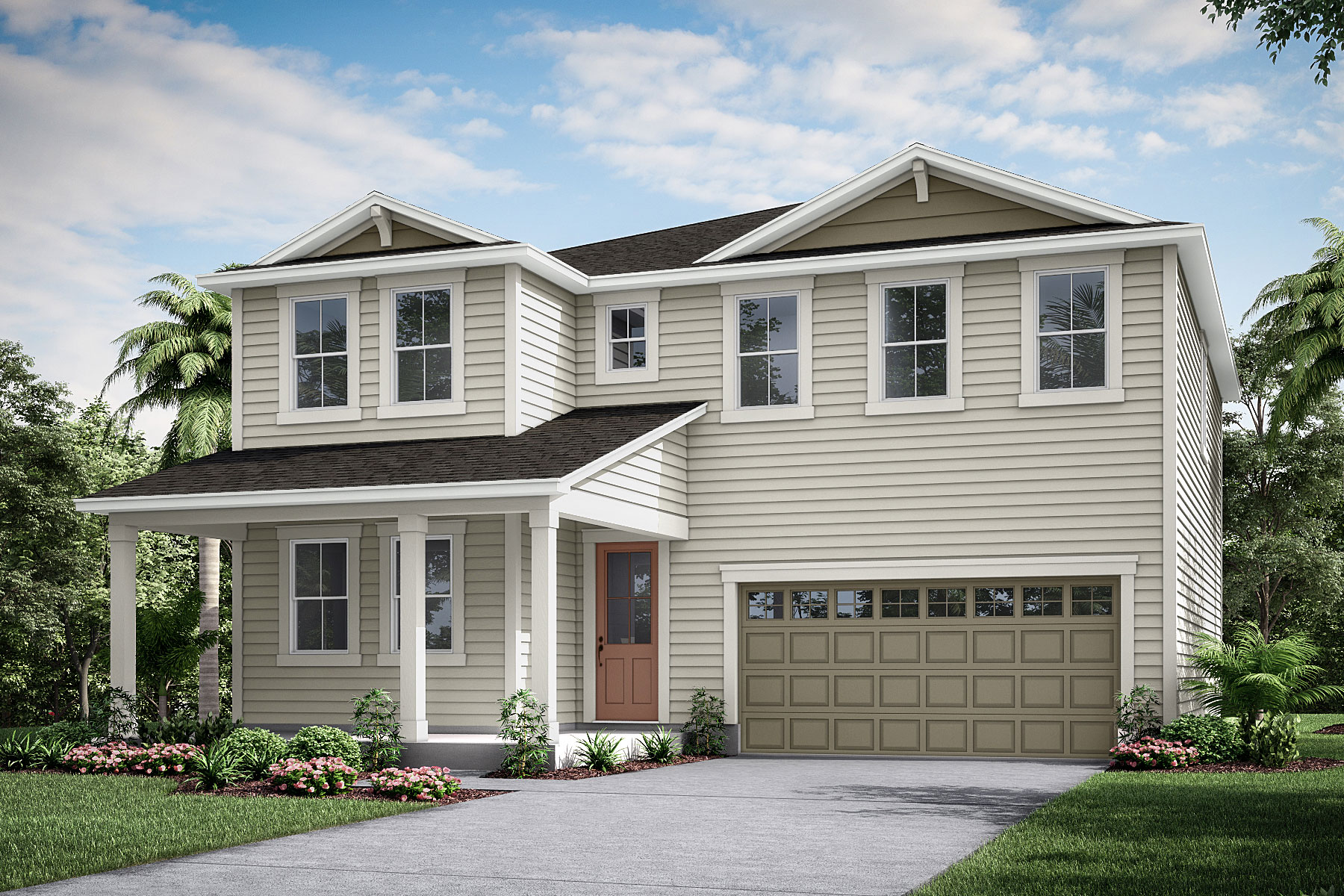 Linden Plan Elevation Front at Forest Park at Wildlight in Yulee Florida by Mattamy Homes