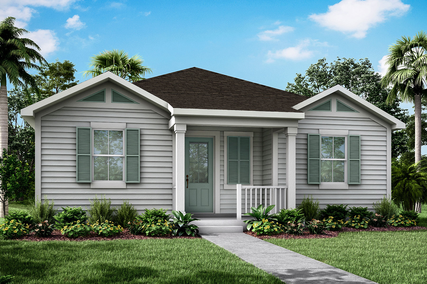 Newport Plan Elevation Front at Forest Park at Wildlight in Yulee Florida by Mattamy Homes