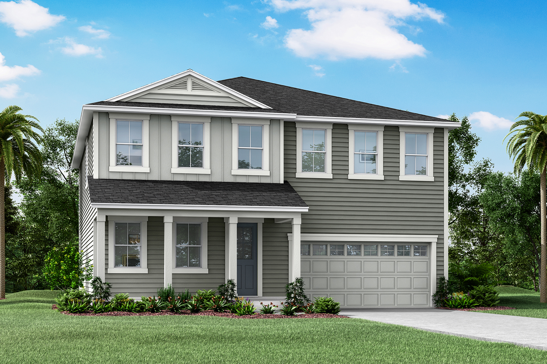 Poplar Plan Elevation Front at Forest Park at Wildlight in Yulee Florida by Mattamy Homes