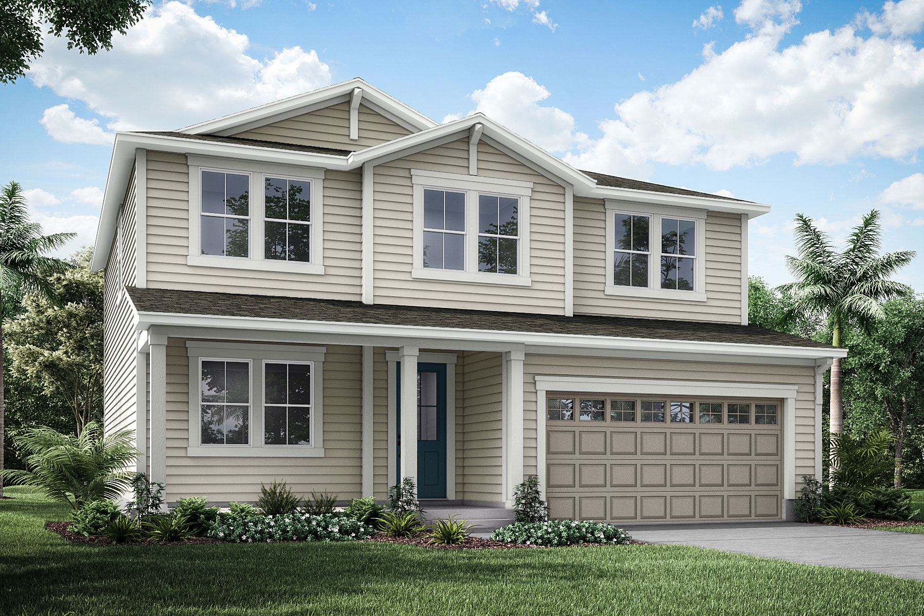 Willow Plan Elevation Front at Forest Park at Wildlight in Yulee Florida by Mattamy Homes