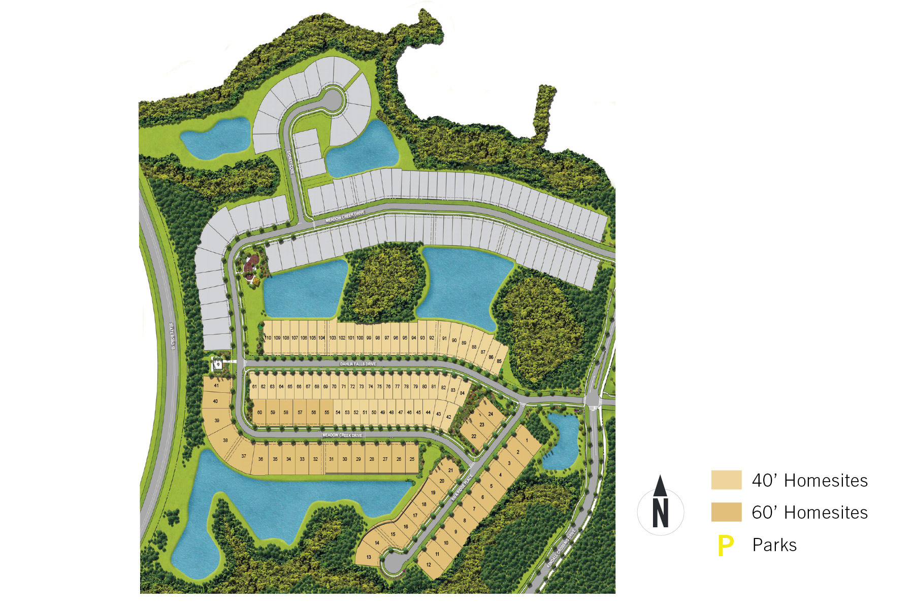 RiverTown - Haven Lot Map in St. Johns Florida by Mattamy Homes