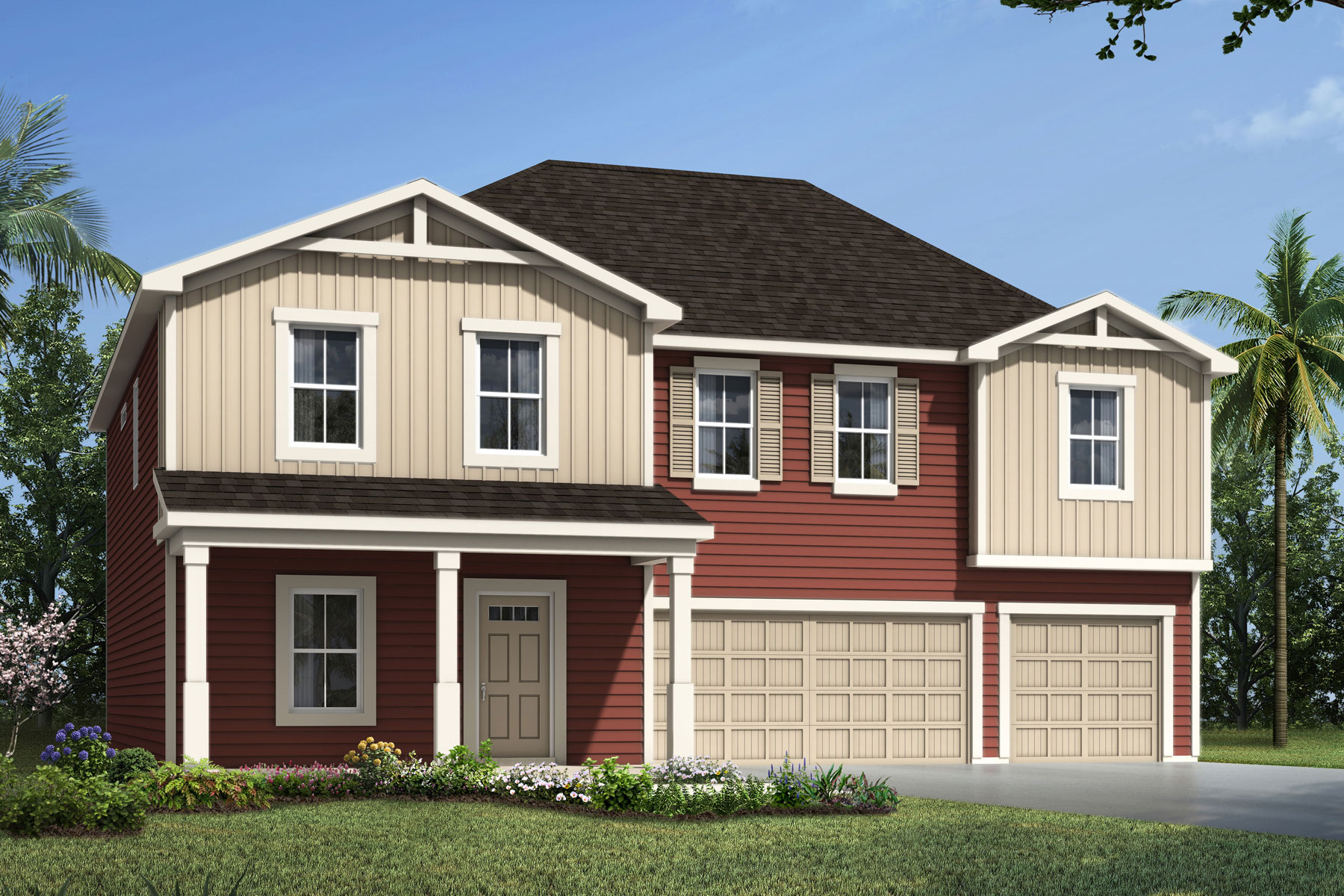 Marshall Plan jax_marhsall_farmhouse at RiverTown - Haven in St. Johns Florida by Mattamy Homes