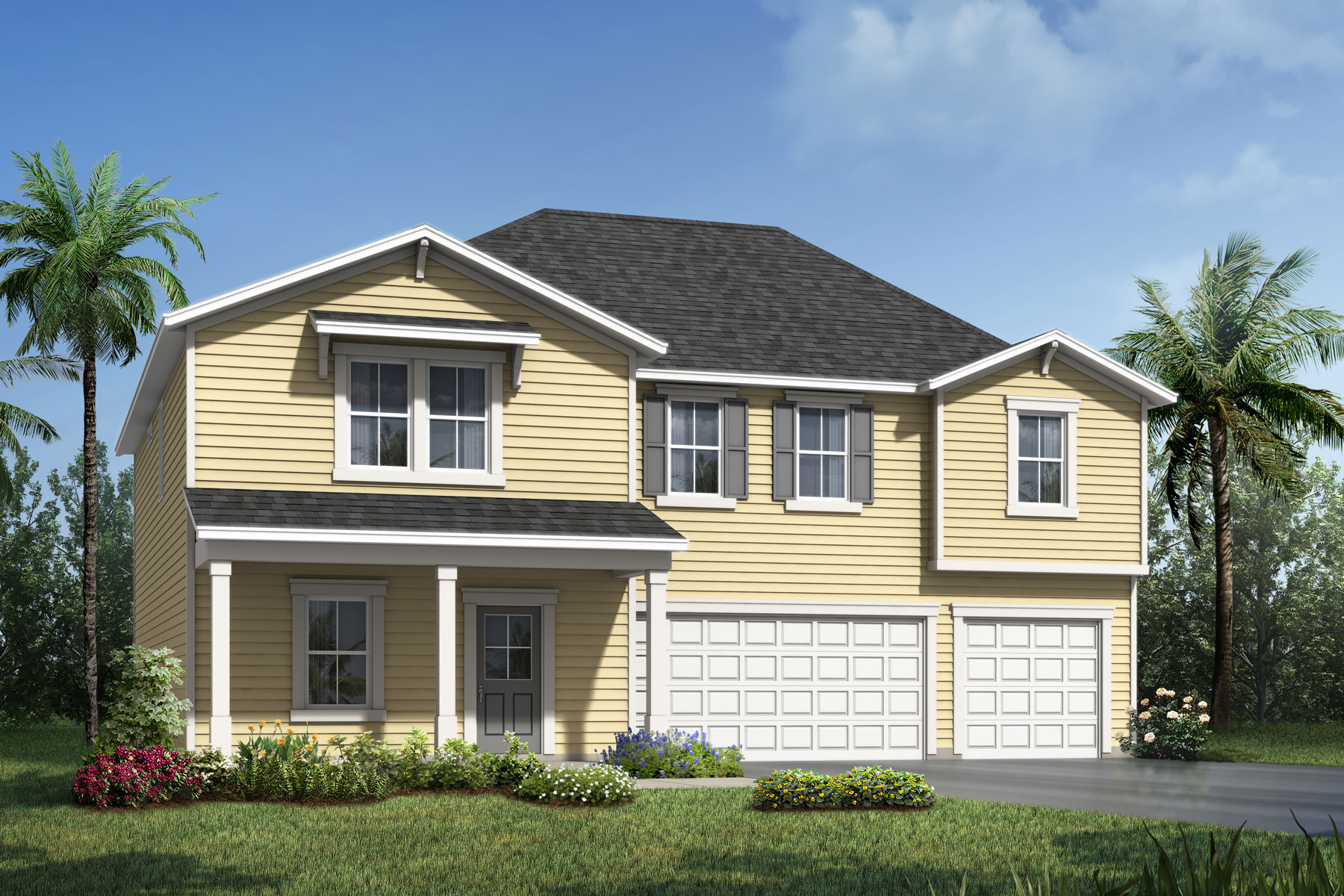Marshall Plan Elevation Front at RiverTown - Haven in St. Johns Florida by Mattamy Homes