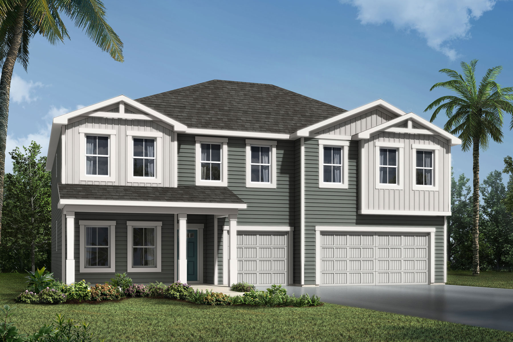 Turner Plan Elevation Front at RiverTown - Haven in St. Johns Florida by Mattamy Homes