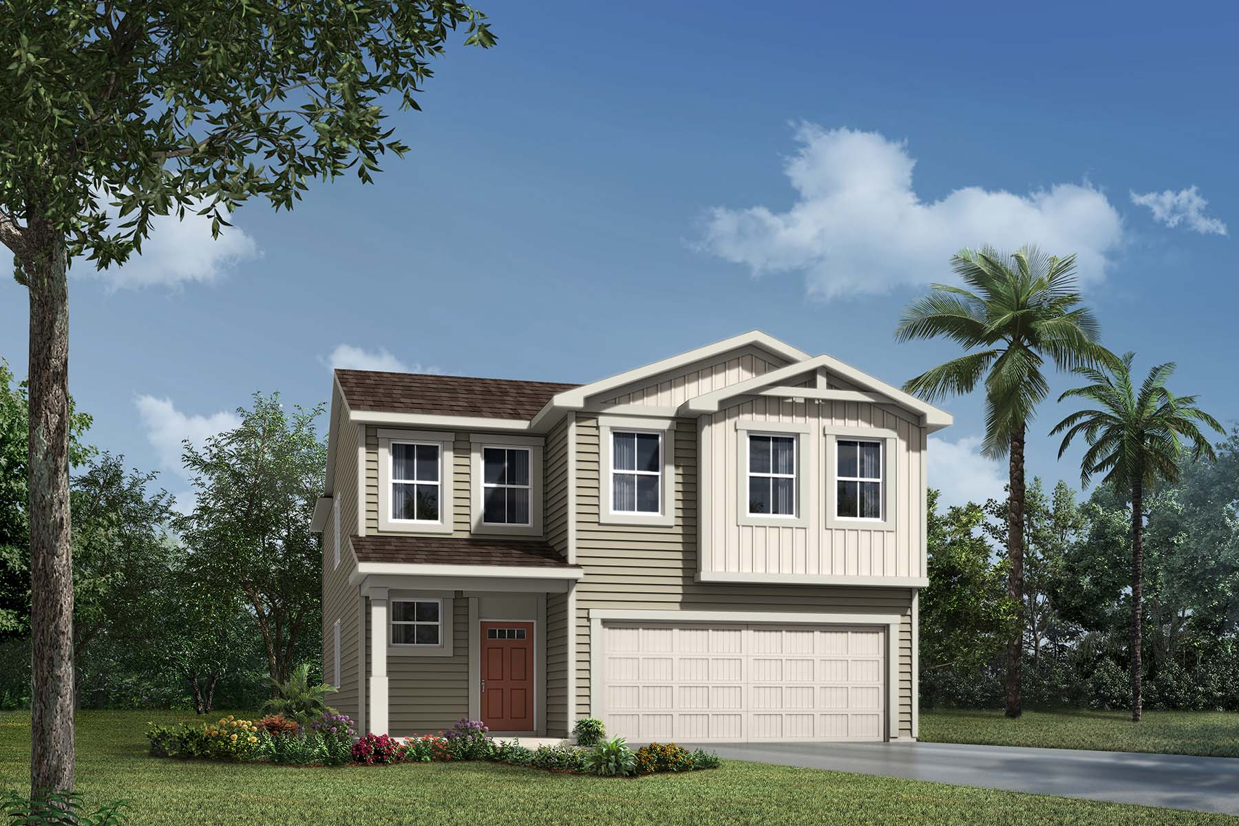 Whitney Plan Elevation Front at RiverTown - Haven in St. Johns Florida by Mattamy Homes