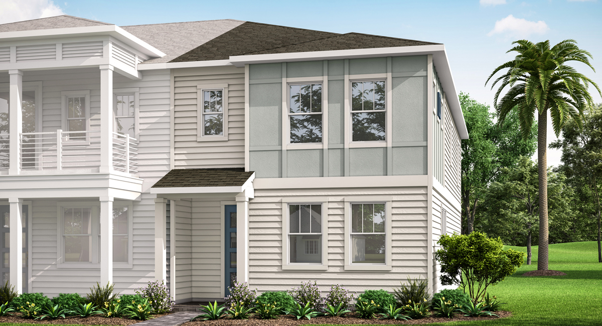 Destan Plan Elevation Front at Pablo Cove in Jacksonville Florida by Mattamy Homes