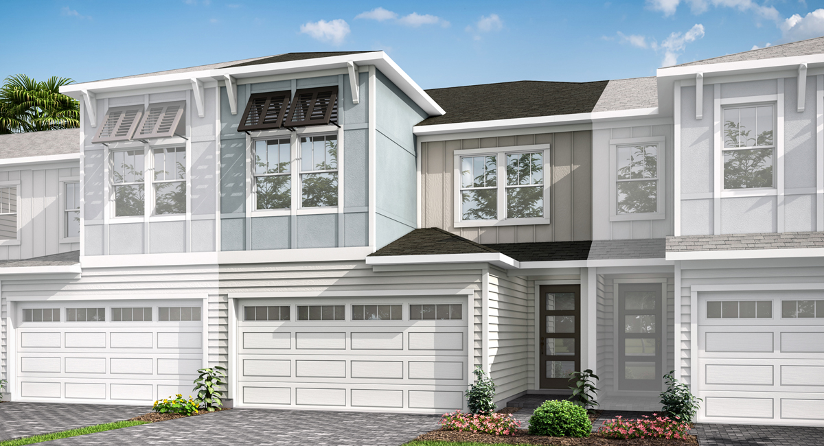 Neptune Plan TownHomes at Pablo Cove in Jacksonville Florida by Mattamy Homes