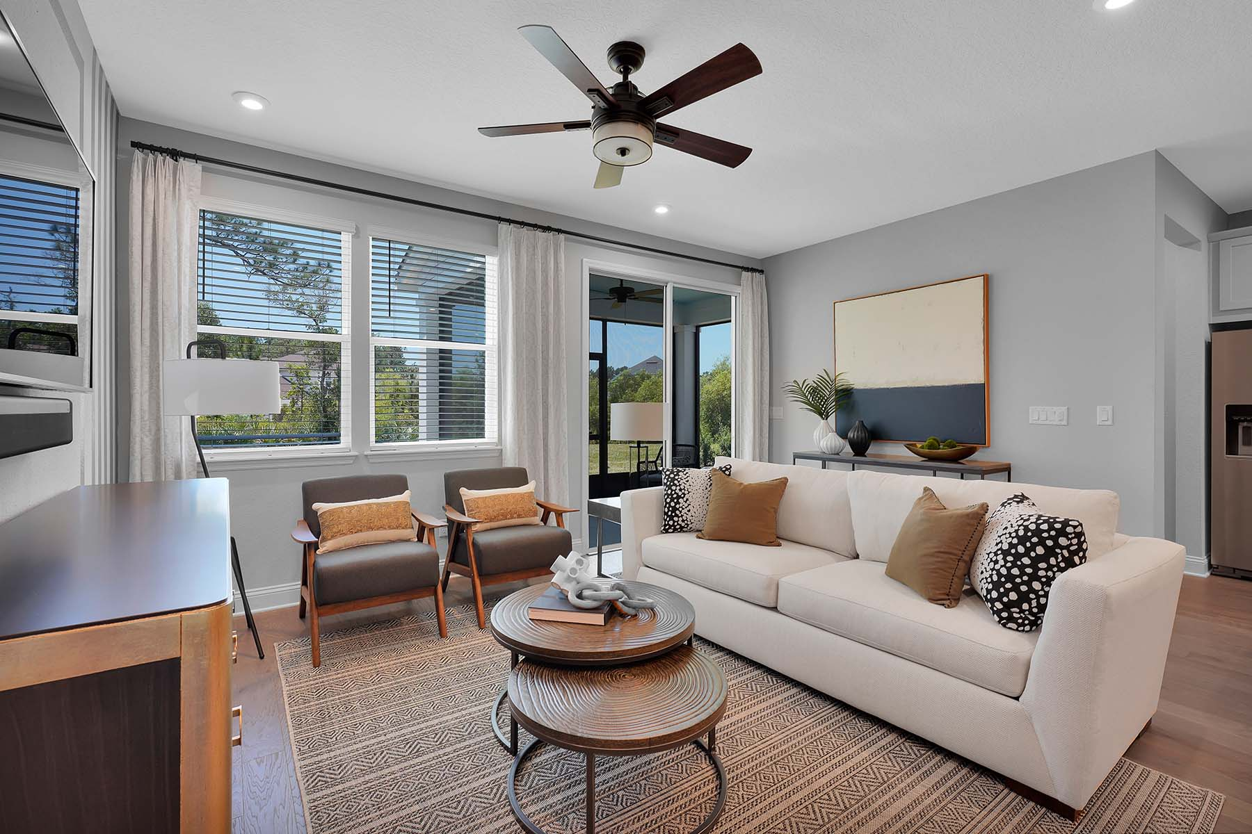 Talise Plan Greatroom at Pablo Cove in Jacksonville Florida by Mattamy Homes