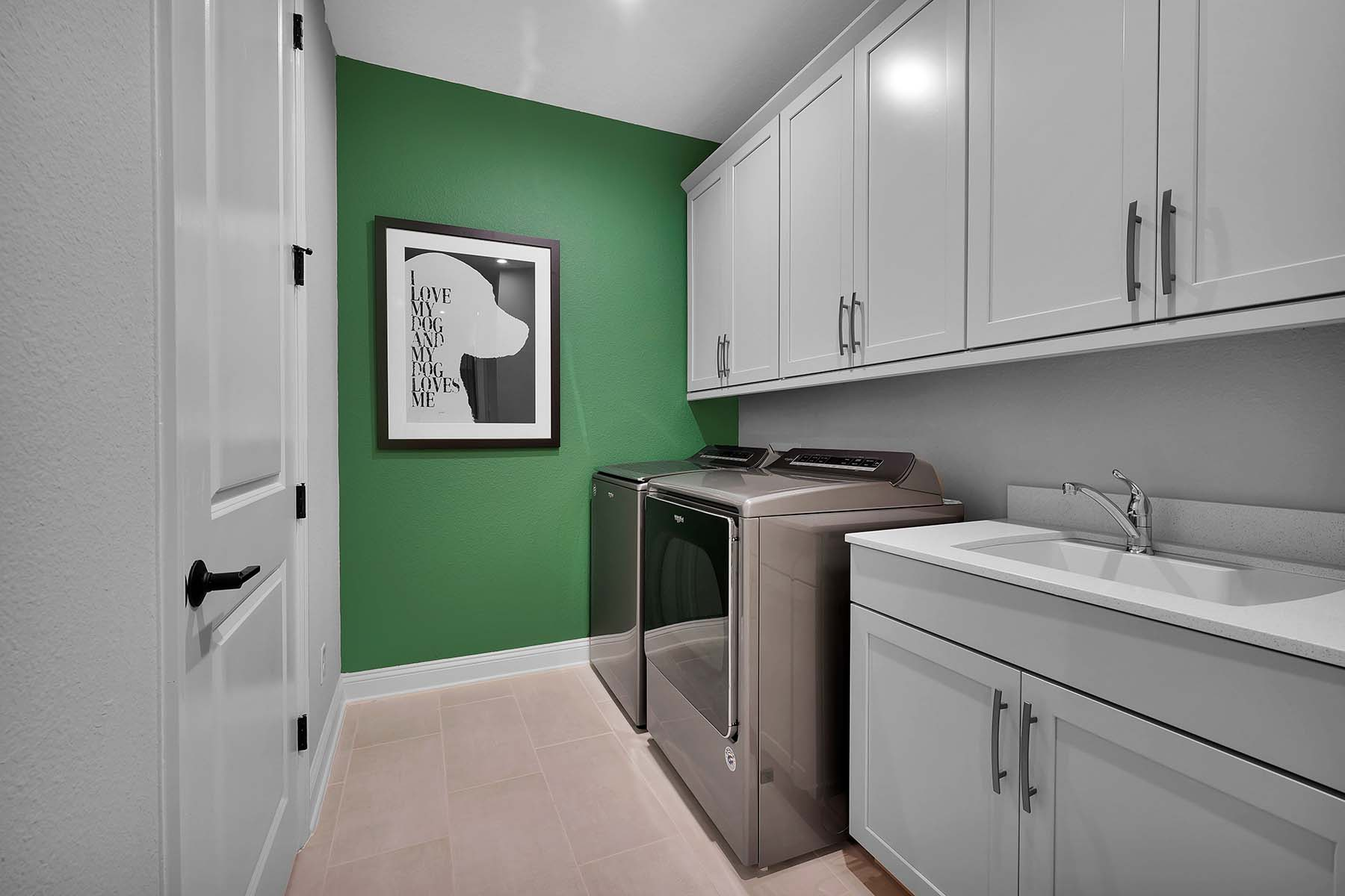 Talise Plan Laundry at Pablo Cove in Jacksonville Florida by Mattamy Homes