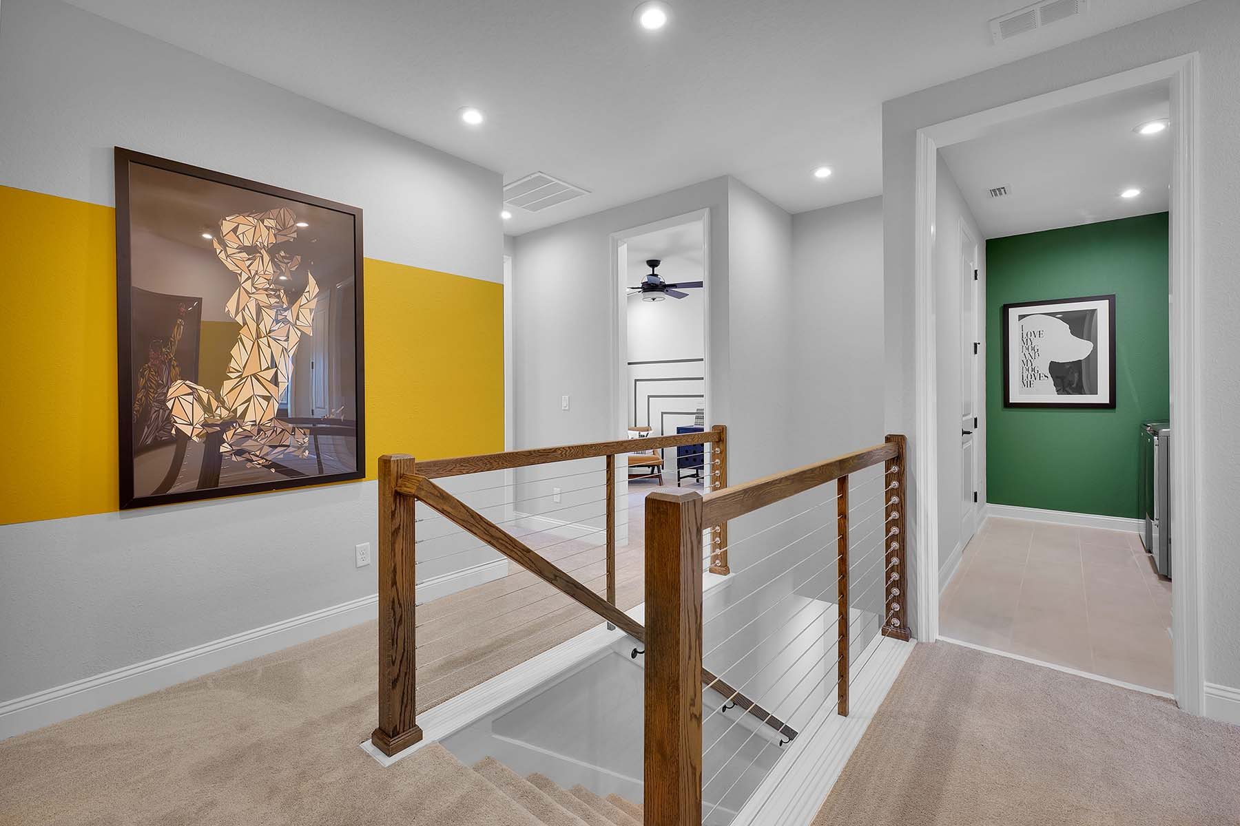 Talise Plan Hallway at Pablo Cove in Jacksonville Florida by Mattamy Homes
