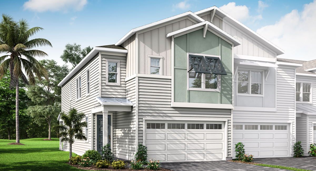 Waverly Plan Elevation Front at Pablo Cove in Jacksonville Florida by Mattamy Homes
