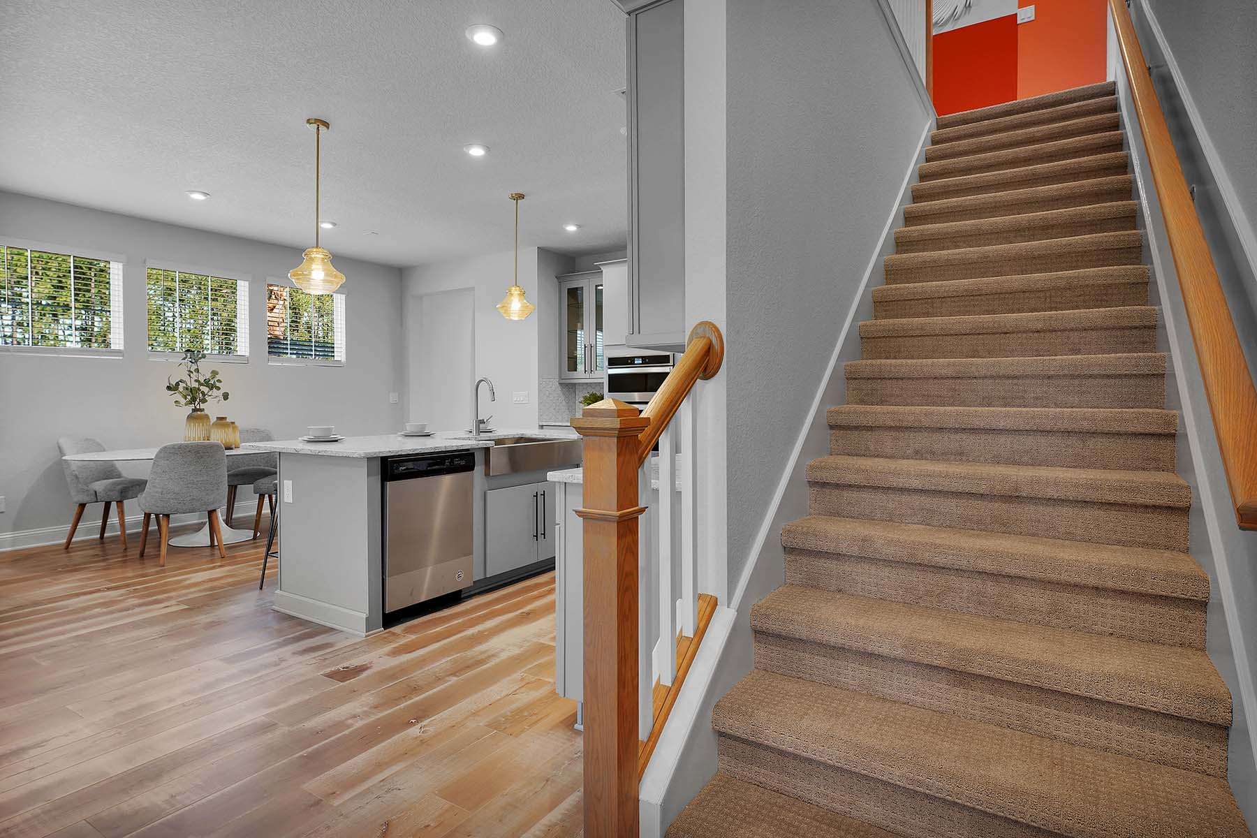 Waverly Plan Stairs at Pablo Cove in Jacksonville Florida by Mattamy Homes