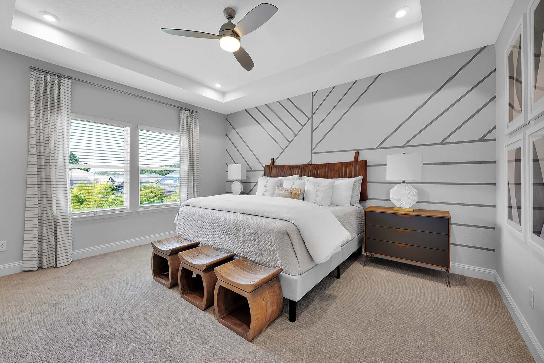 Waverly Plan Bedroom at Pablo Cove in Jacksonville Florida by Mattamy Homes