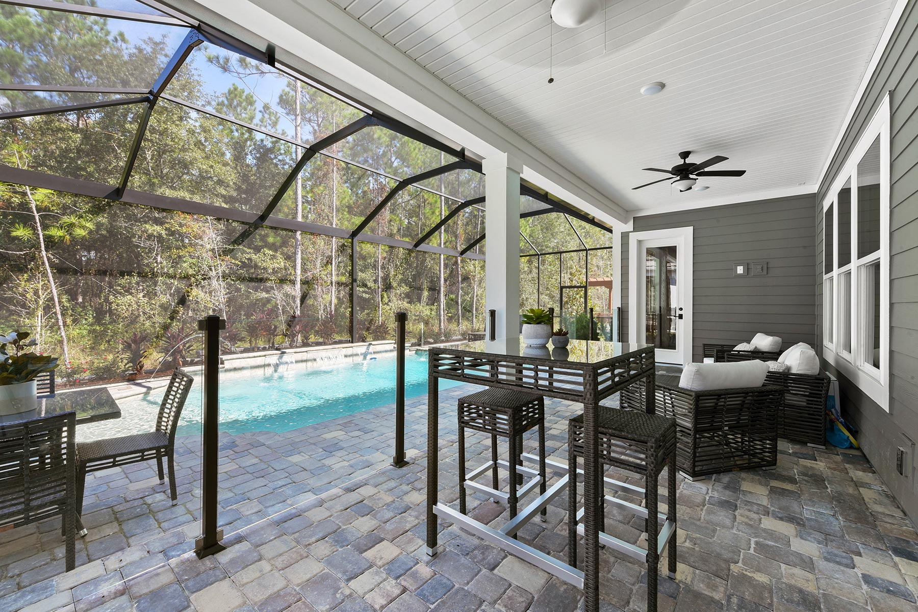 Bridge Plan Patio at RiverTown - WaterSong in St. Johns Florida by Mattamy Homes