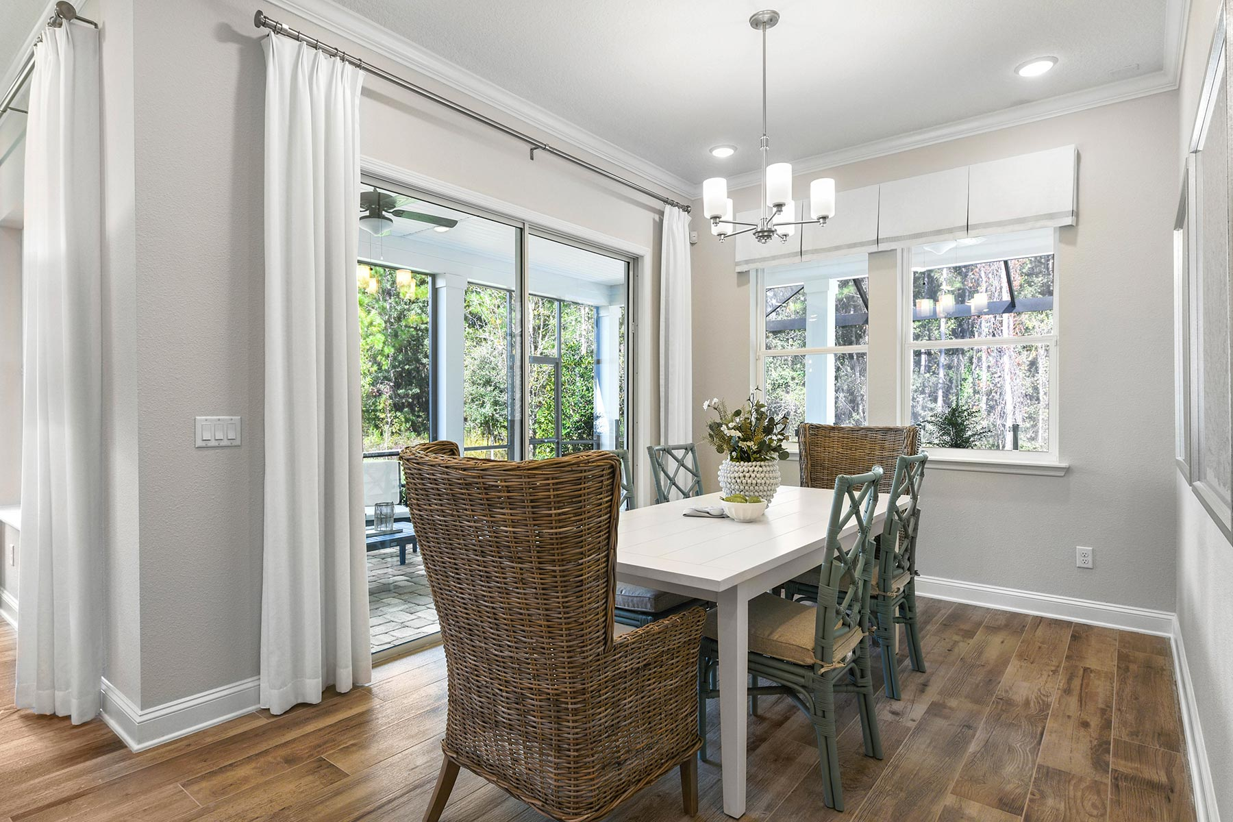 Court Plan Dining at RiverTown - WaterSong in St. Johns Florida by Mattamy Homes
