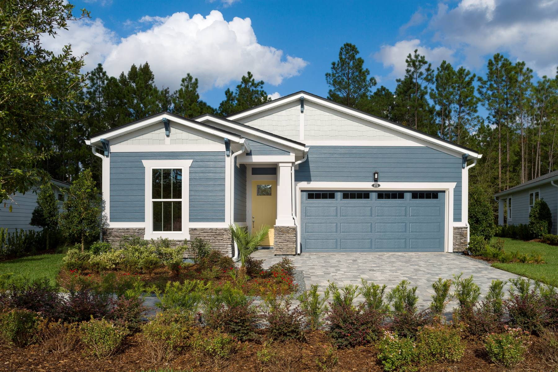 Court Plan Elevation Front at RiverTown - WaterSong in St. Johns Florida by Mattamy Homes