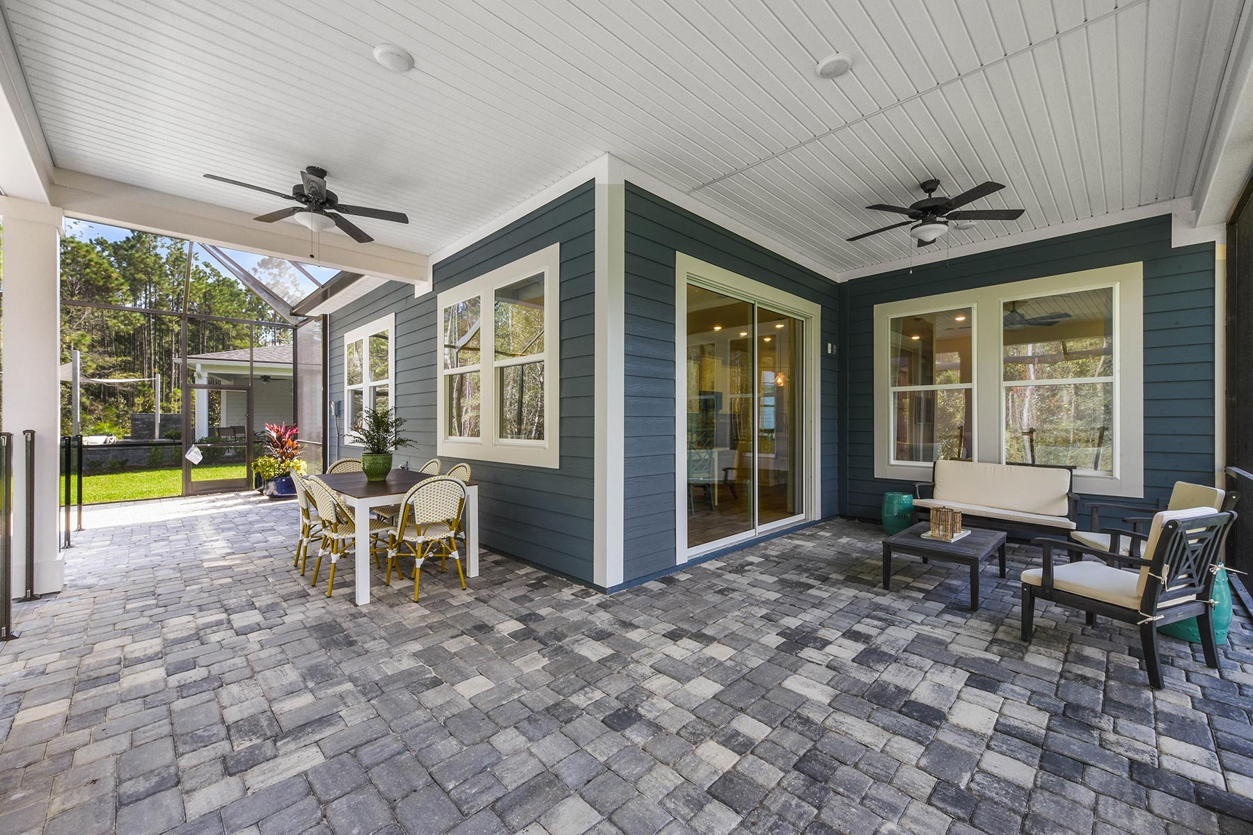 Court Plan Patio at RiverTown - WaterSong in St. Johns Florida by Mattamy Homes