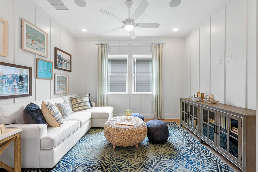 Harbor Plan Media Room at RiverTown - WaterSong in St. Johns Florida by Mattamy Homes