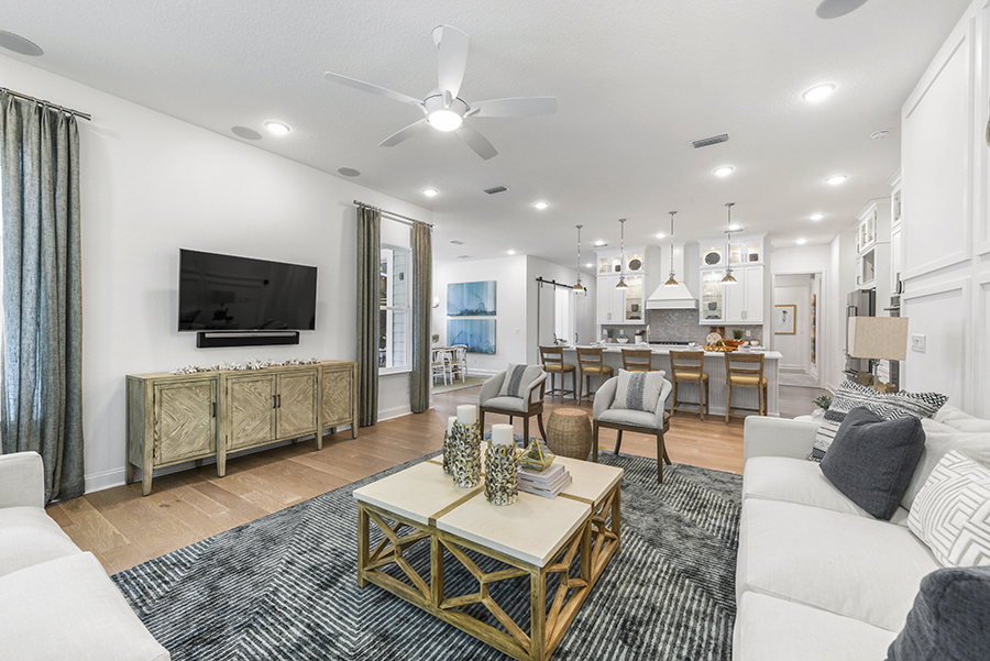 Harbor Plan Greatroom at RiverTown - WaterSong in St. Johns Florida by Mattamy Homes