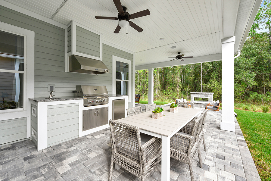 Harbor Plan Patio at RiverTown - WaterSong in St. Johns Florida by Mattamy Homes