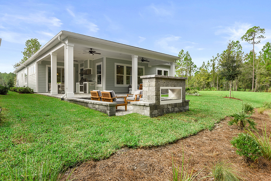 Harbor Plan House Backyard at RiverTown - WaterSong in St. Johns Florida by Mattamy Homes