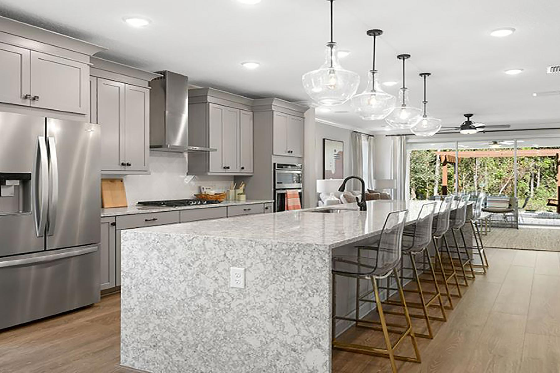 Lane Plan Kitchen at RiverTown - WaterSong in St. Johns Florida by Mattamy Homes