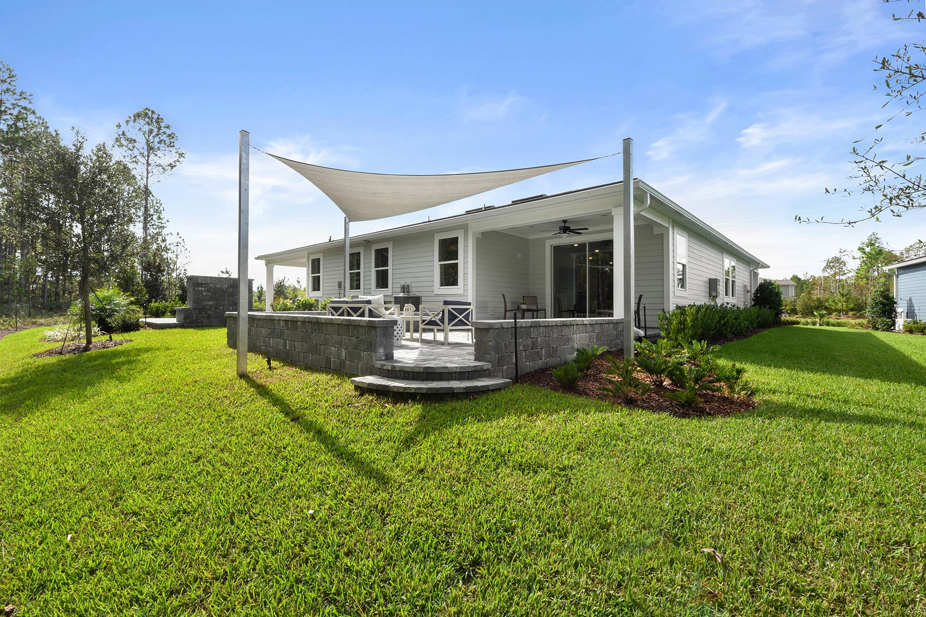 Ocean Plan Elevation Back Side at RiverTown - WaterSong in St. Johns Florida by Mattamy Homes