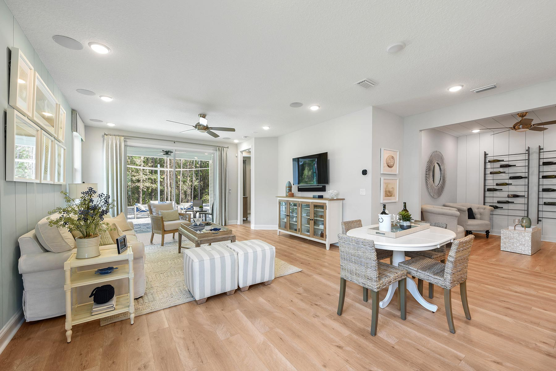 Ocean Plan Greatroom at RiverTown - WaterSong in St. Johns Florida by Mattamy Homes