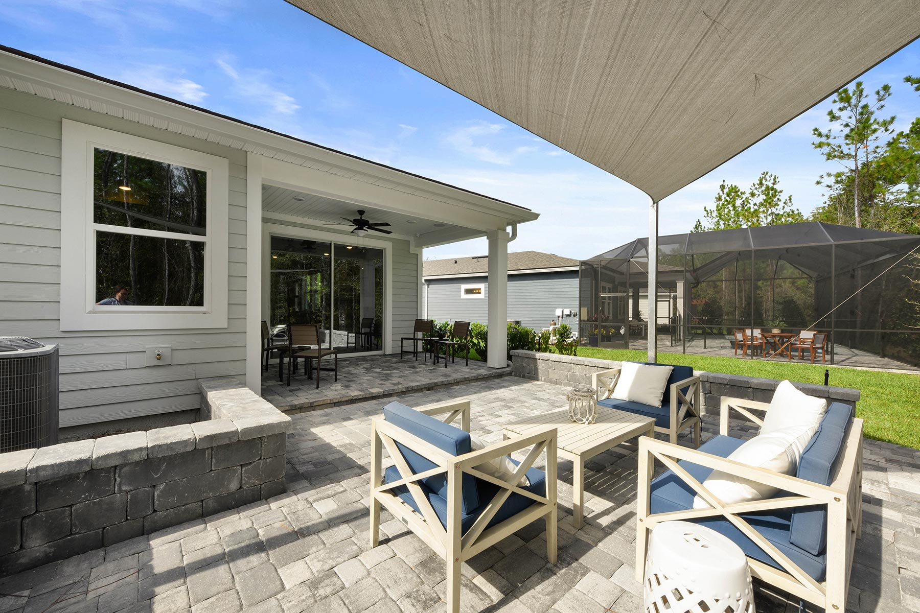 Ocean Plan Patio at RiverTown - WaterSong in St. Johns Florida by Mattamy Homes