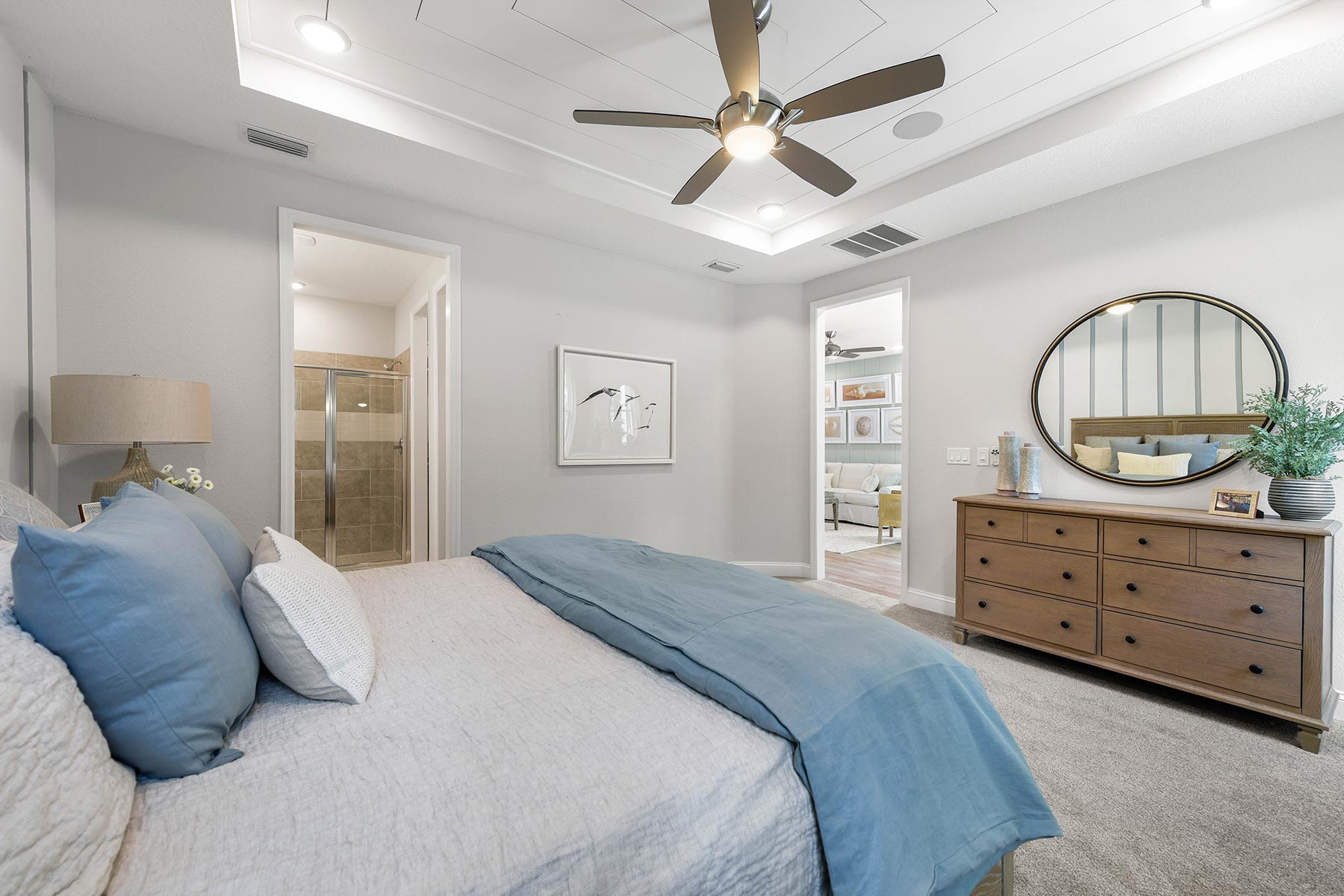 Ocean Plan Bedroom at RiverTown - WaterSong in St. Johns Florida by Mattamy Homes