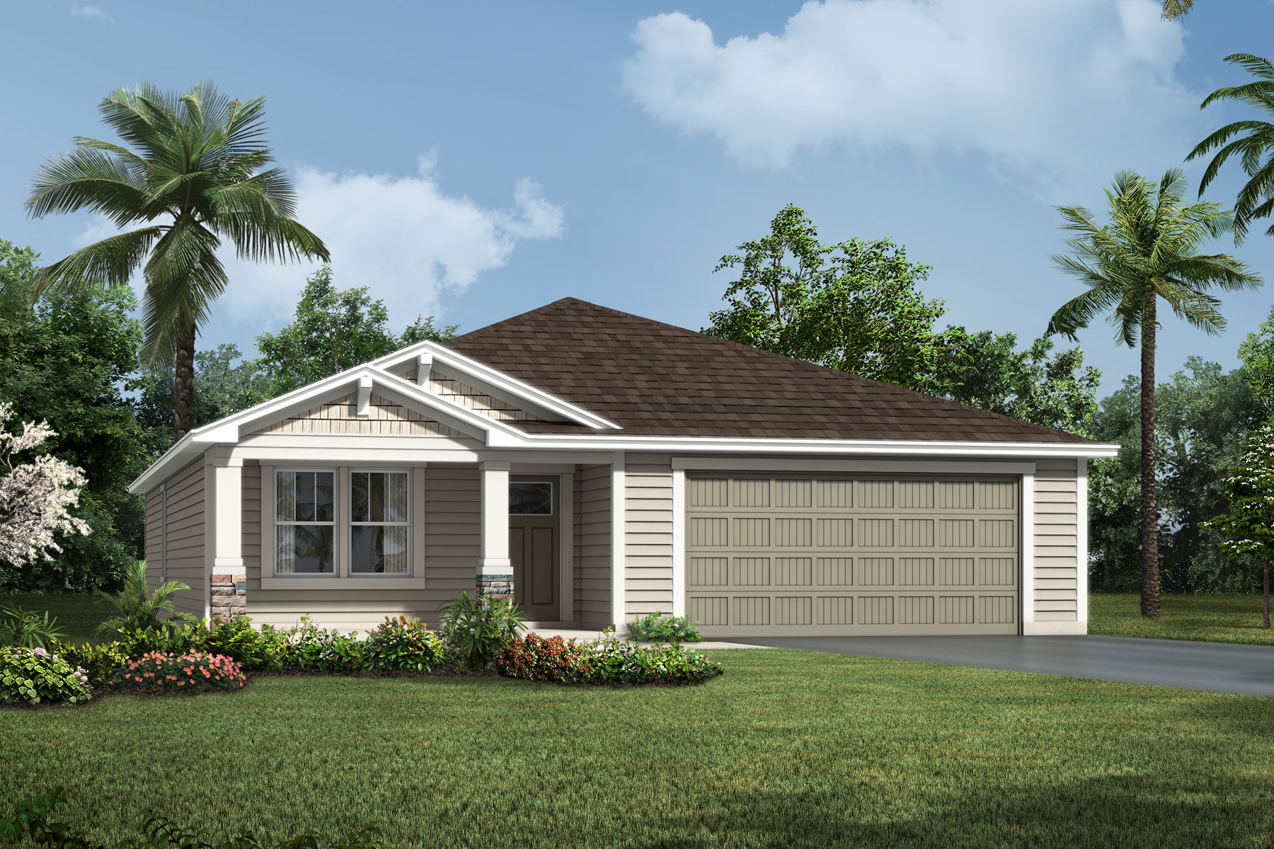 Aspen Plan Elevation Front at Wells Creek in Jacksonville Florida by Mattamy Homes
