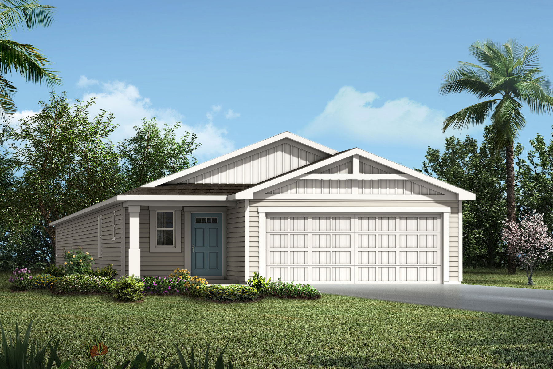 Barron Plan Elevation Front at Wells Creek in Jacksonville Florida by Mattamy Homes