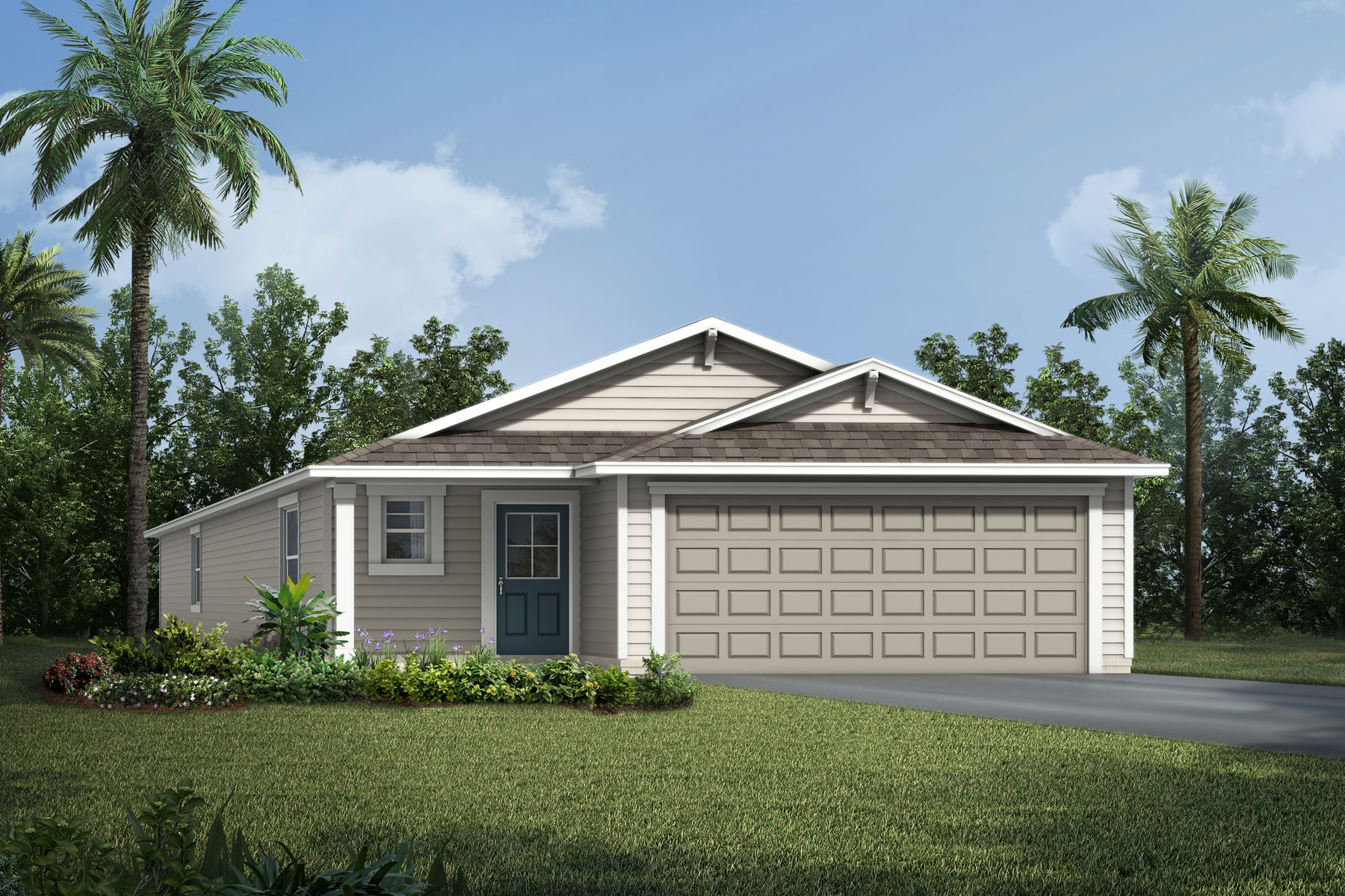 Carrabelle Plan Elevation Front at Wells Creek in Jacksonville Florida by Mattamy Homes
