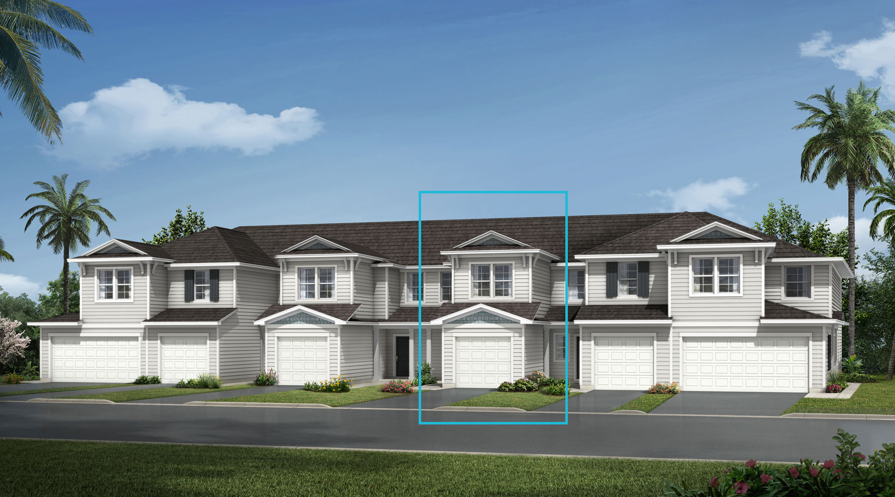 Cove Plan TownHomes at Wells Creek in Jacksonville Florida by Mattamy Homes