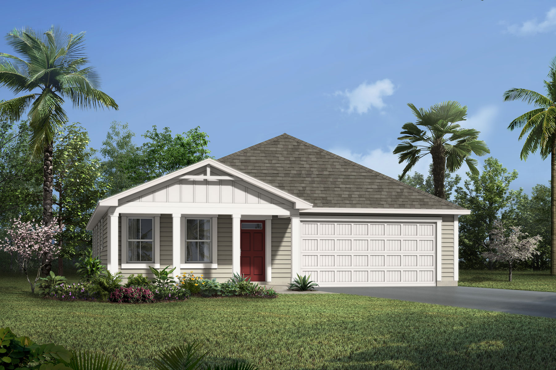Elm Plan Elevation Front at Wells Creek in Jacksonville Florida by Mattamy Homes