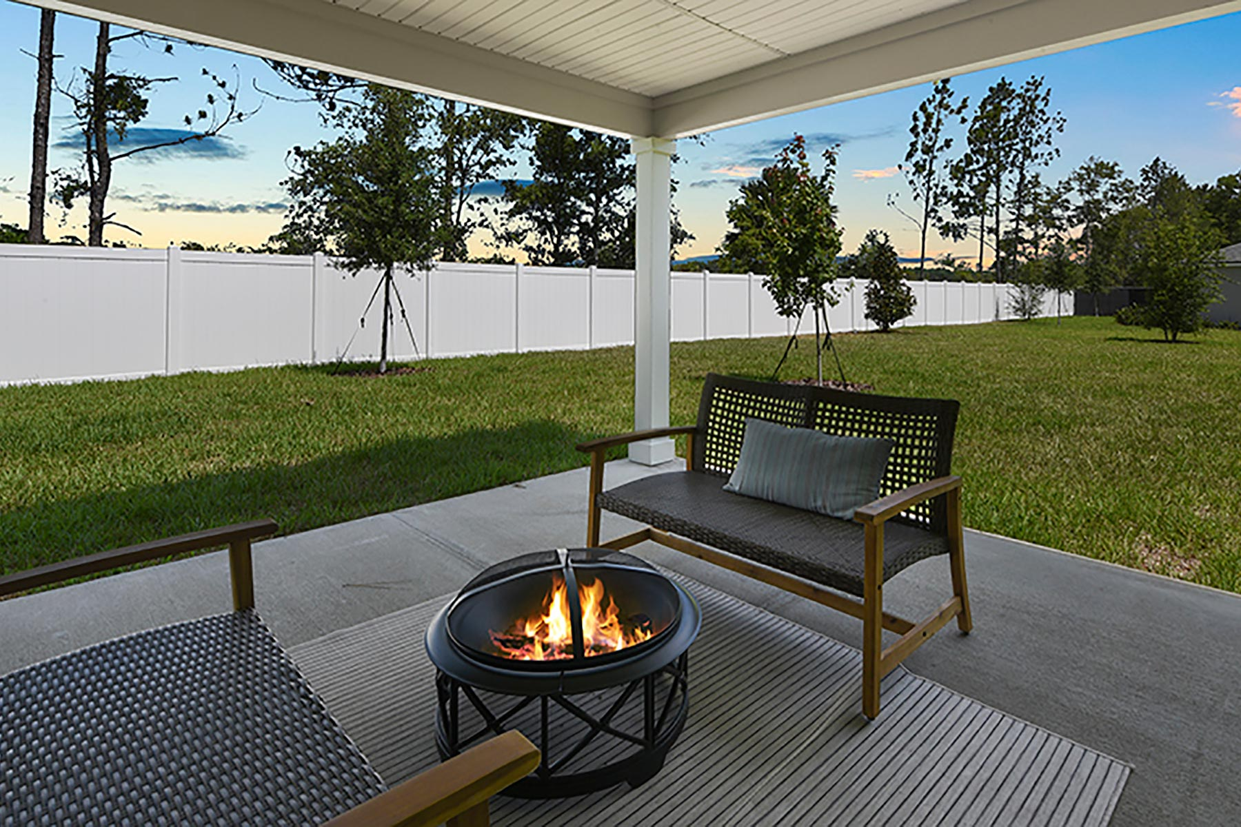 Elm Plan Patio at Wells Creek in Jacksonville Florida by Mattamy Homes