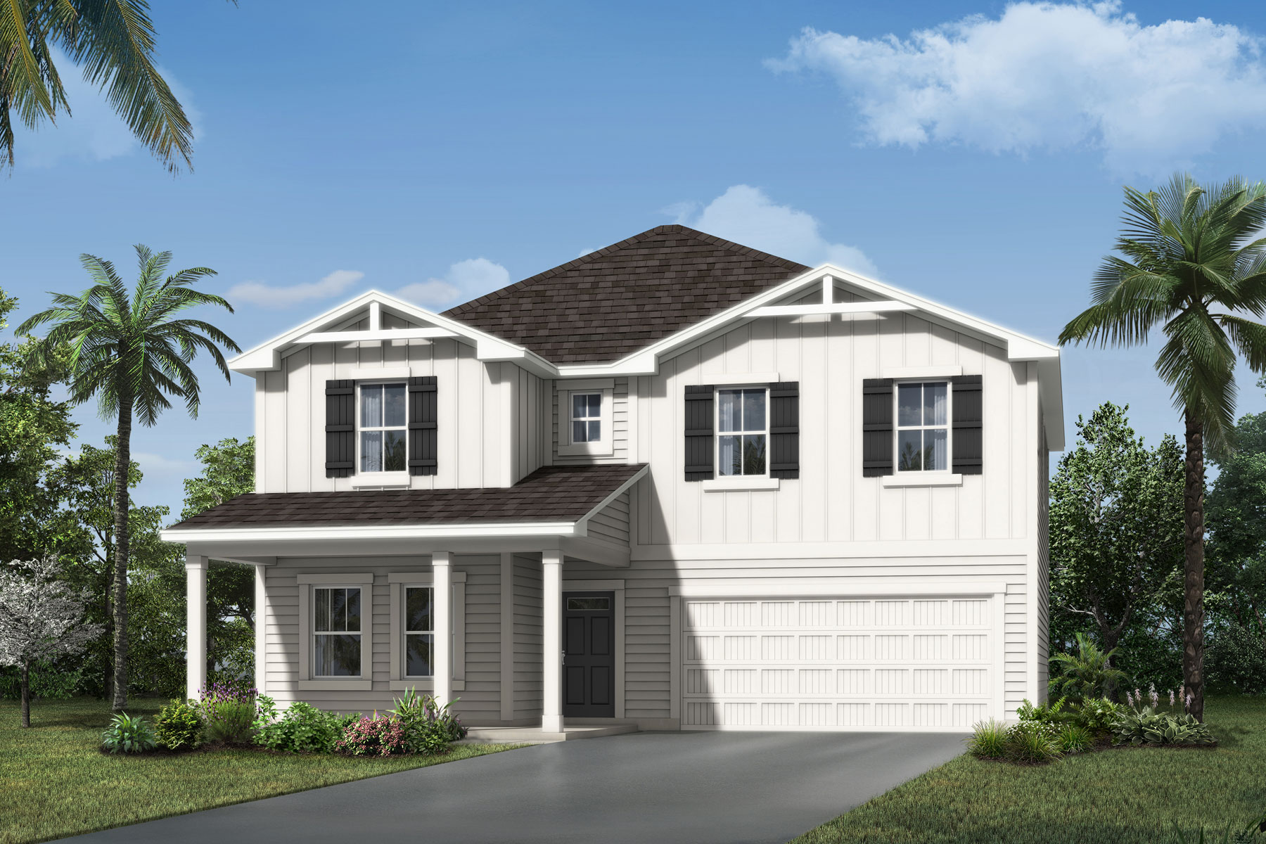 Linden Plan Elevation Front at Wells Creek in Jacksonville Florida by Mattamy Homes