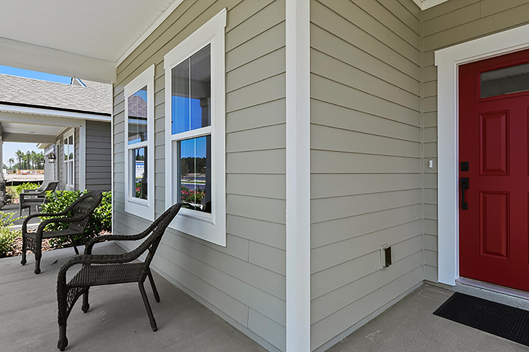 Linden Plan Front Porch at Wells Creek in Jacksonville Florida by Mattamy Homes